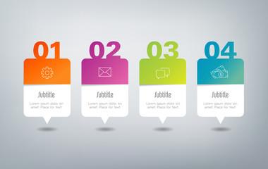 Infographics - 4 steps