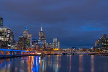Twilight time at Melbourne city, Queensland, Australia.
