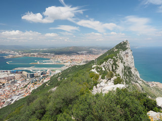The Rock and The City of Gibraltar From the Top