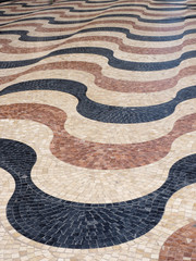 Mosaic Tile Street in Palma de Mallorca, Spain