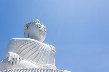 Big Buddha monument on the island of Phuket in Thailand