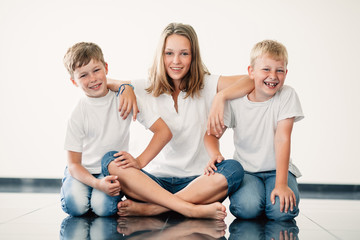 young girl with brothers