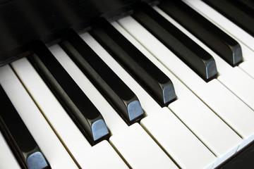 Nostalgic piano keys