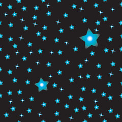Simple black sky with stars pattern