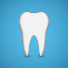Vector Tooth. Dental health concept.