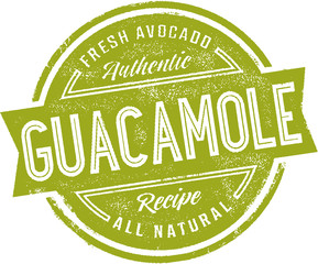 Vintage Mexican Guacamole Sign Stamp