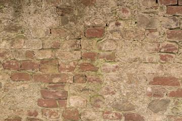 Fotobehang Oude vuile getextureerde muur Hintergrund - Ziegelsteinmauer