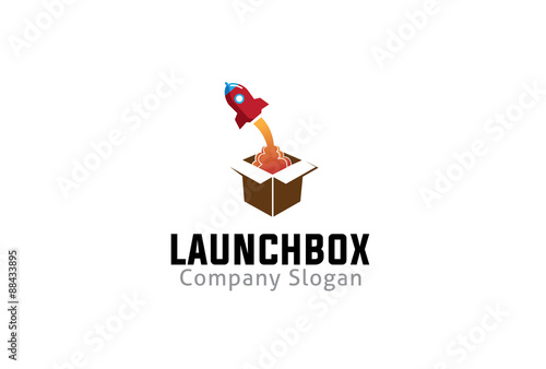 Launch box Logo template