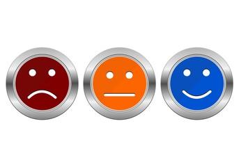 Survey Buttons (business customer service feedback concept)