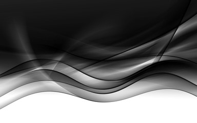 abstraction black wave background