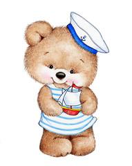 Cute Teddy bear sailor