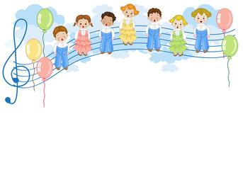 Coro di Bambini sul Pentagramma