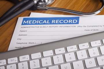 Medical insurance records and Stethoscope