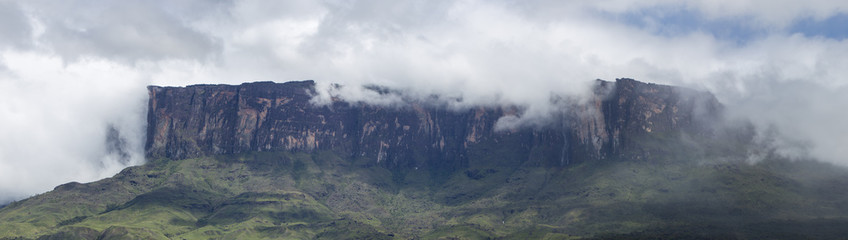 Roraima Tepui or table mountain in Canaima, Venezuela