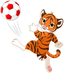 Little Tiger hits the ball