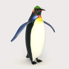 Emperor penguins , cartoon penguins , 3d render penguins isolated on white background