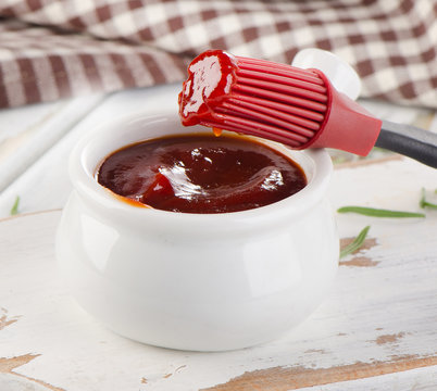 BBQ sauce in  bowl