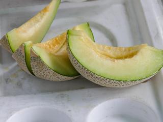 pieces of slice melon fruit