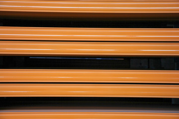 orange industrial steel