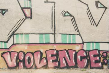 Graffiti inscription violence