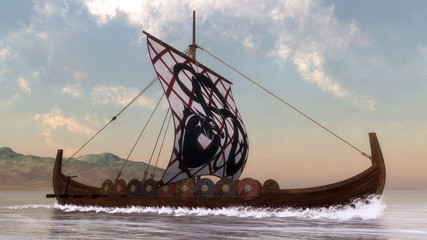 Drakkar - 3D render