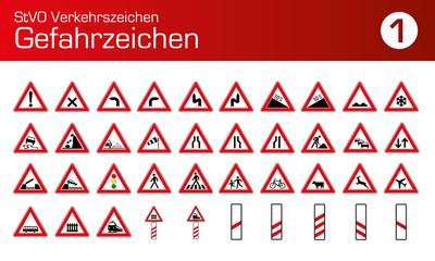 StVO Verkehrszeichen Gefahrenzeichen Auto PKW LKW