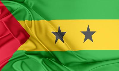 Sao Tome and Principe Flag.