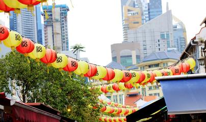 Chinese lanterns at china town, Singapore