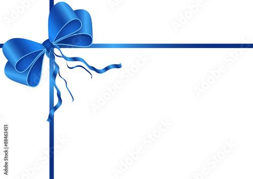 schleife f r geschenk oder karte blau stockfotos und lizenzfreie bilder auf bild. Black Bedroom Furniture Sets. Home Design Ideas