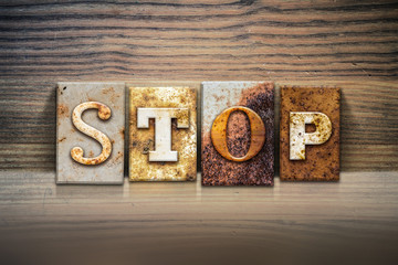 Stop Concept Letterpress Theme