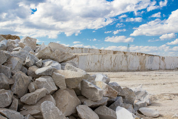 marble quarry, stone texture, Stone Quarrying