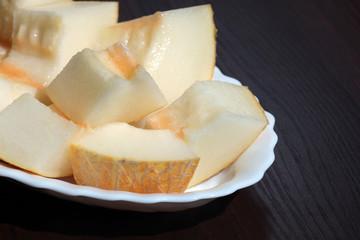 melon dessert with chocolate