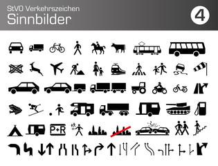 StVO Verkehrszeichen Sinnbilder Auto PKW LKW icon