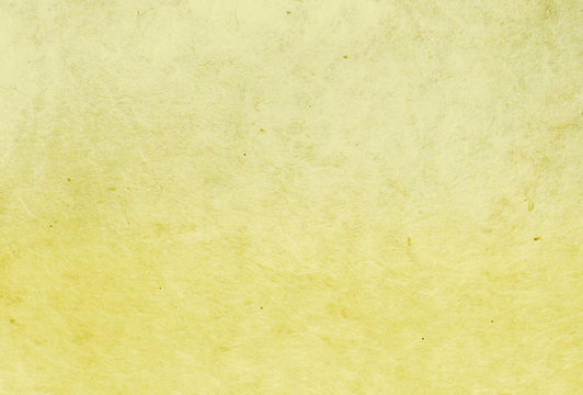 yellow color mulberry paper texture background