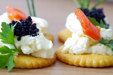 Fingerfood fürs Auge mit Lachs und Kaviar