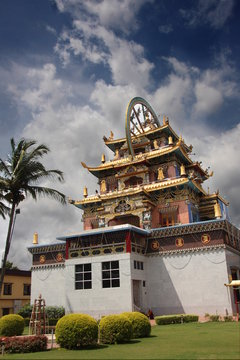 A Golden Temple also known as Tibetian monastery in Coorg Karnataka India