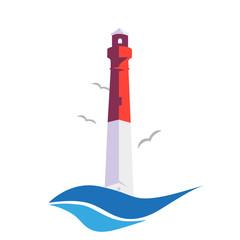 Stylish logo lighthouse