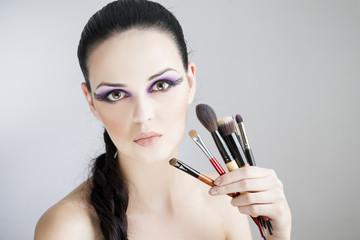 Applying creative makeup