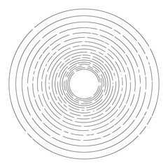 Thin random dashed concentric circles background