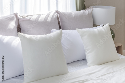 Modern Family Pillows On Bed :