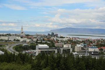 Island, Blick auf Reykjavik, Norden