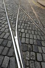 The streetcar rail