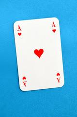 As, Herz, Spielkarte