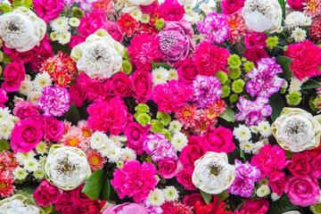 Bouquets flower, Colorful background bunch flowers