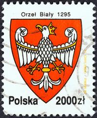 Poland Coat of Arms, 1295 (Poland 1992)