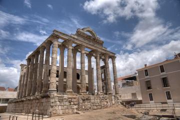 Fotobehang Antiguo templo romano de Diana en Mérida