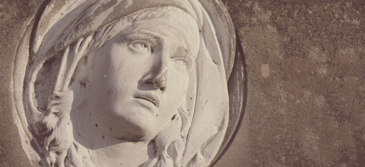 Statue Of Virgin Mary (styled retro)