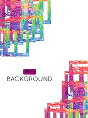 Abstract Background Squares Decor 1