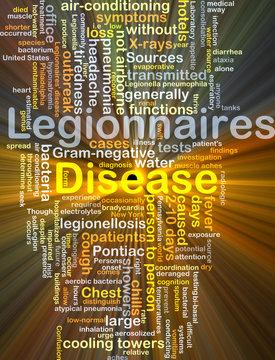 Legionnaires' disease background concept glowing