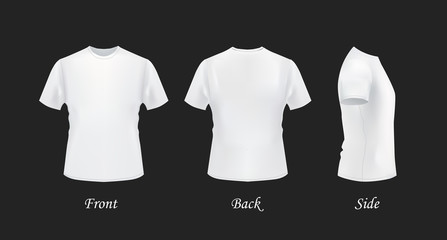 T shirt template front side back view black and white t shirts category maxwellsz